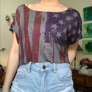 American Eagle Outfitters Tops - American flag top